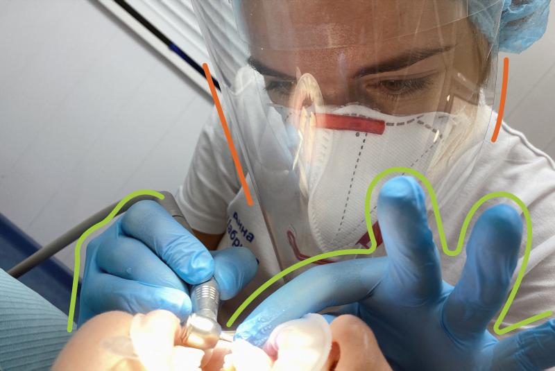восстановление переднего зуба после кариеса